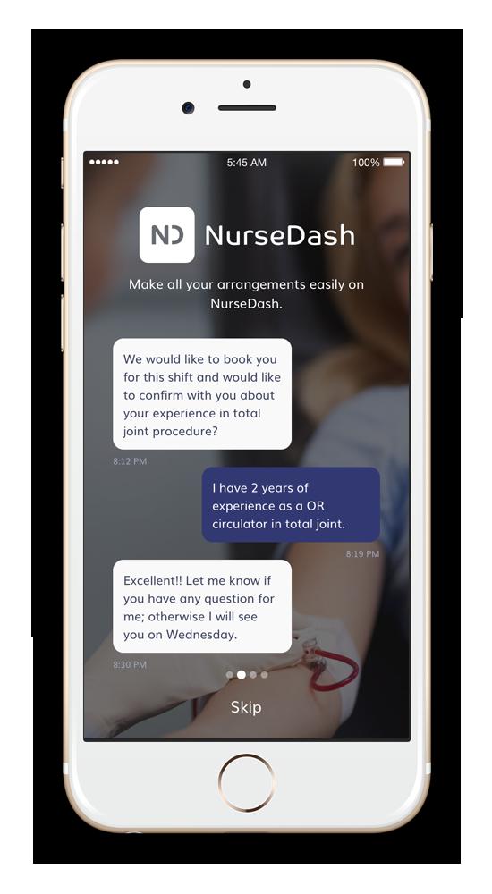 NurseDash app